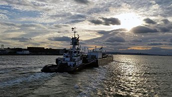 Tug at sunset